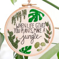 Free Plant Hand Embroidery Pattern
