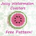 Plastic Canvas Watermelon Coasters Pattern