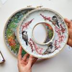 How to Make a Double Hoop for Hand Embroidery