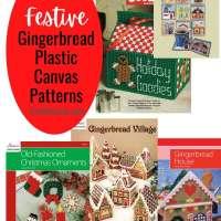5 Festive Gingerbread Plastic Canvas Patterns