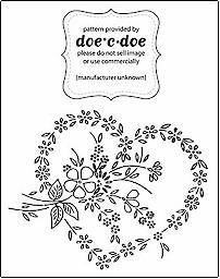 Free embroidery patterns from doe-c-doe