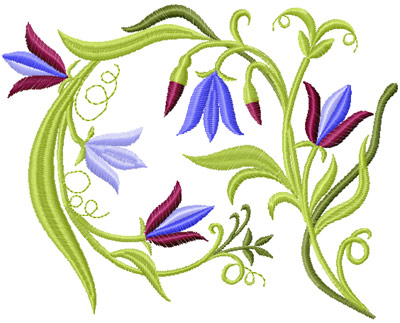 free flowers embroidery collection