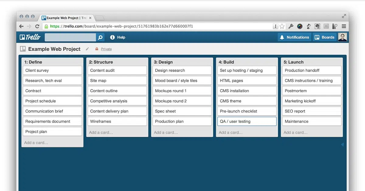Trello for Web Design Projects ⋆ Needmore Designs Blog