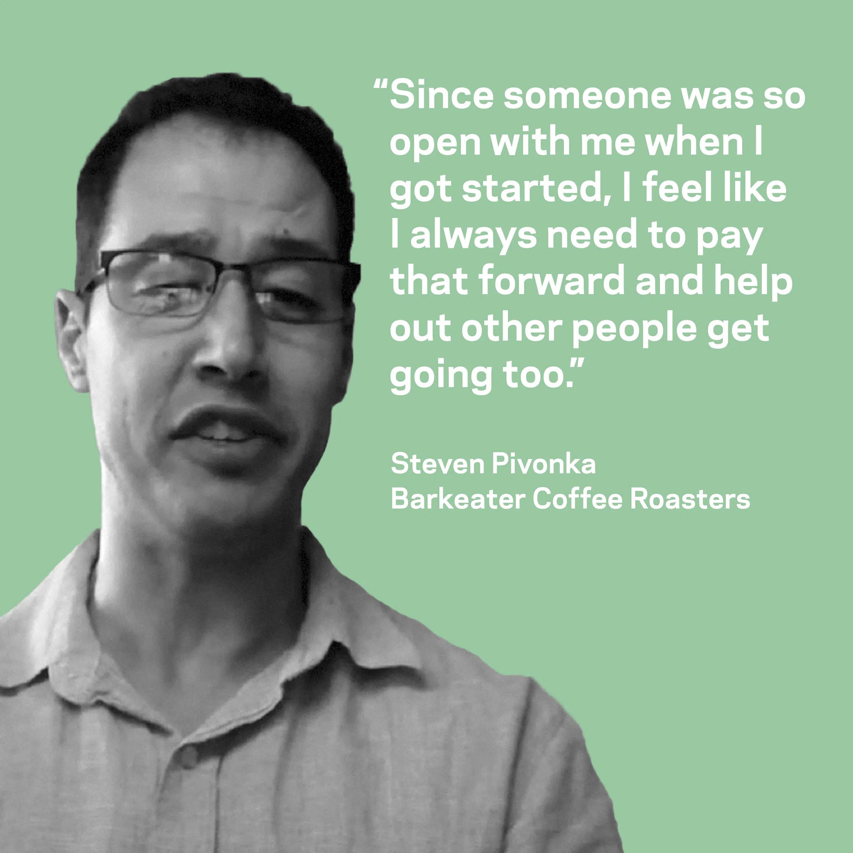 Steven Pivonka of Barkeater Coffee Roasters