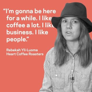 Rebekah Yi-Luoma of Heart Coffee Roasters