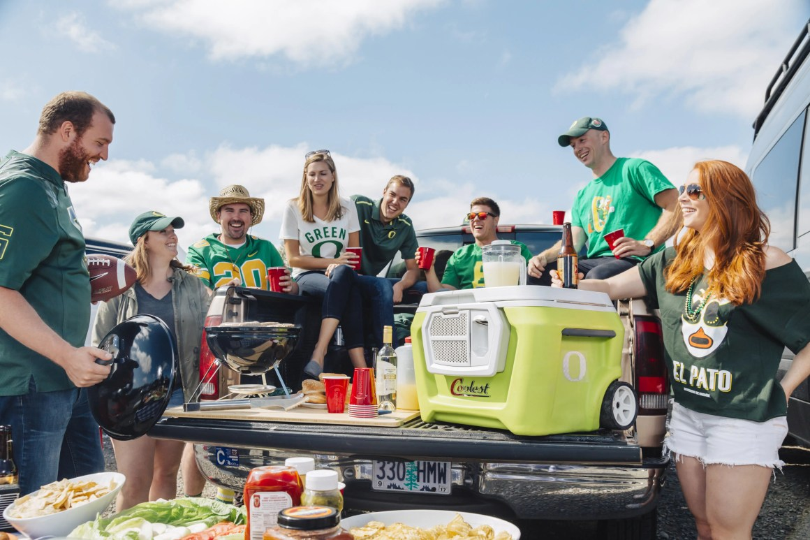 Coolest cooler tailgate party