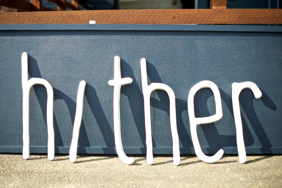Hither sign