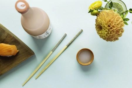 Saké & chopsticks