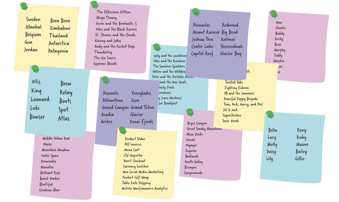 Make a list of 10 and throw ideas out