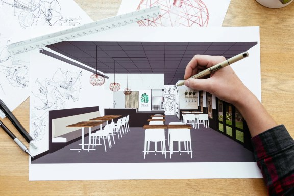 Hapa interior design drawings by Needmore Designs