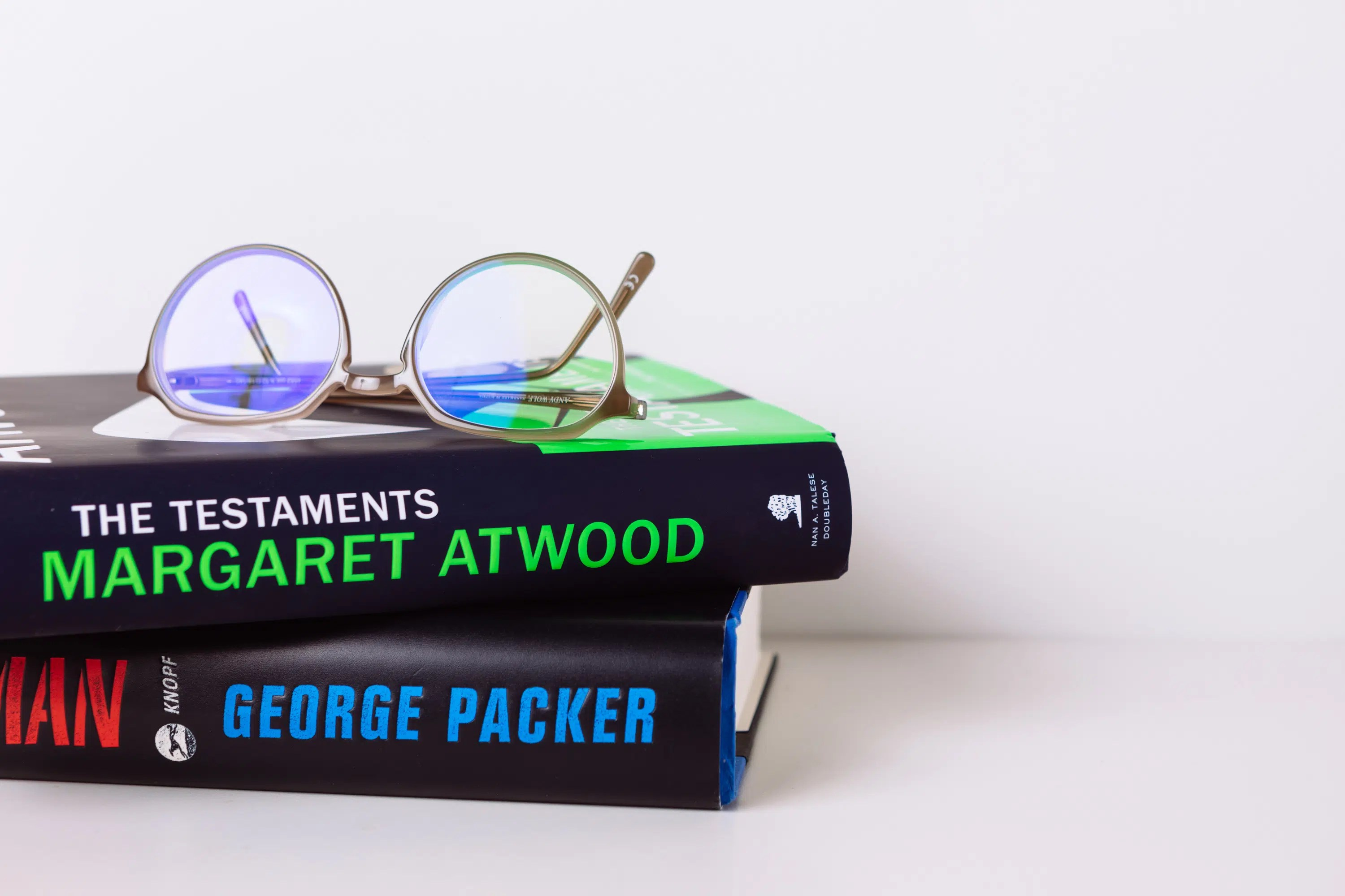 Literary Arts books with glasses