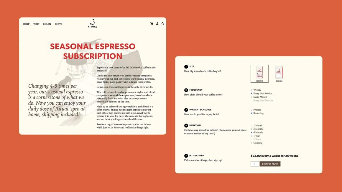 Ritual Espresso Subscription