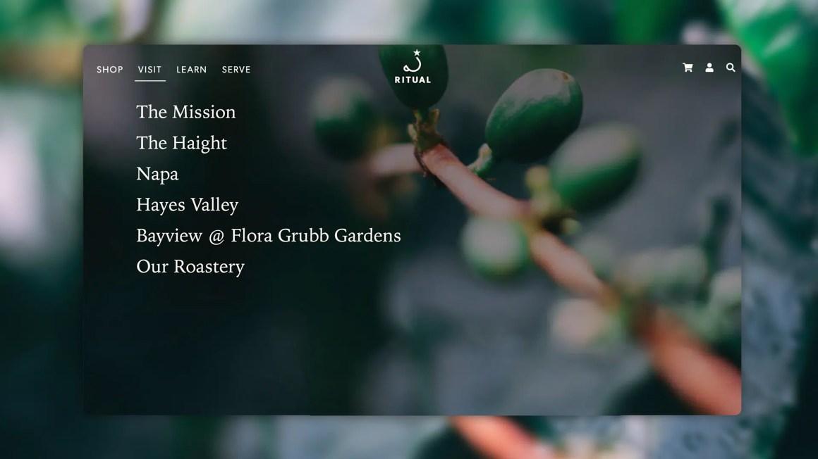 Ritual's menu