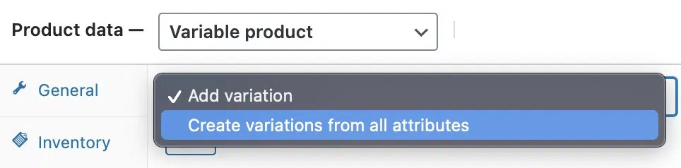 Check the drop-down