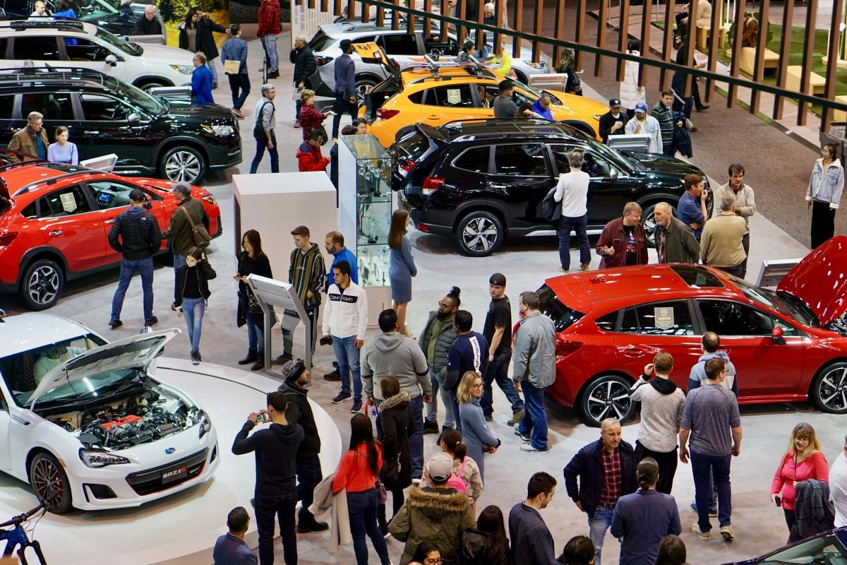 Busy Car Show