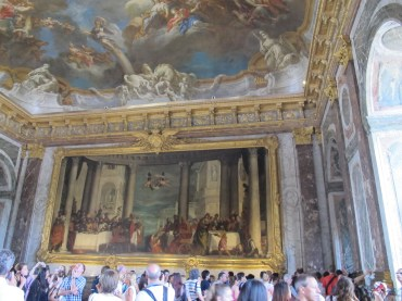 later saw the process for painting these ceilings...smaller models were painted before placing such a huge masterpiece on the ceiling