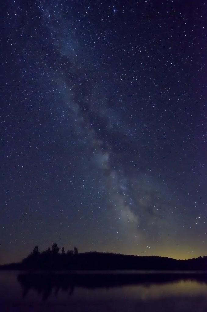 Milky Way photo from Whitefish Lake