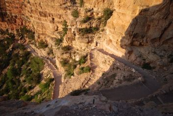 Switchbacks on South Kaibab Trail, Grand Canyon