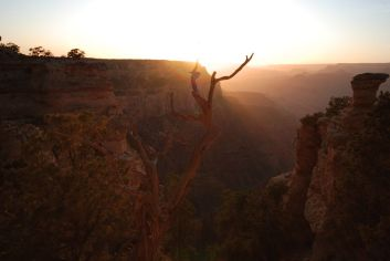 Sunset on South Kaibab Trail, Grand Canyon