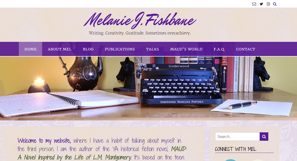 Melanie J. Fishbane website design