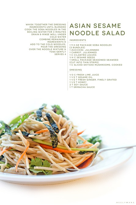 recipe for asian sesame noodle salad