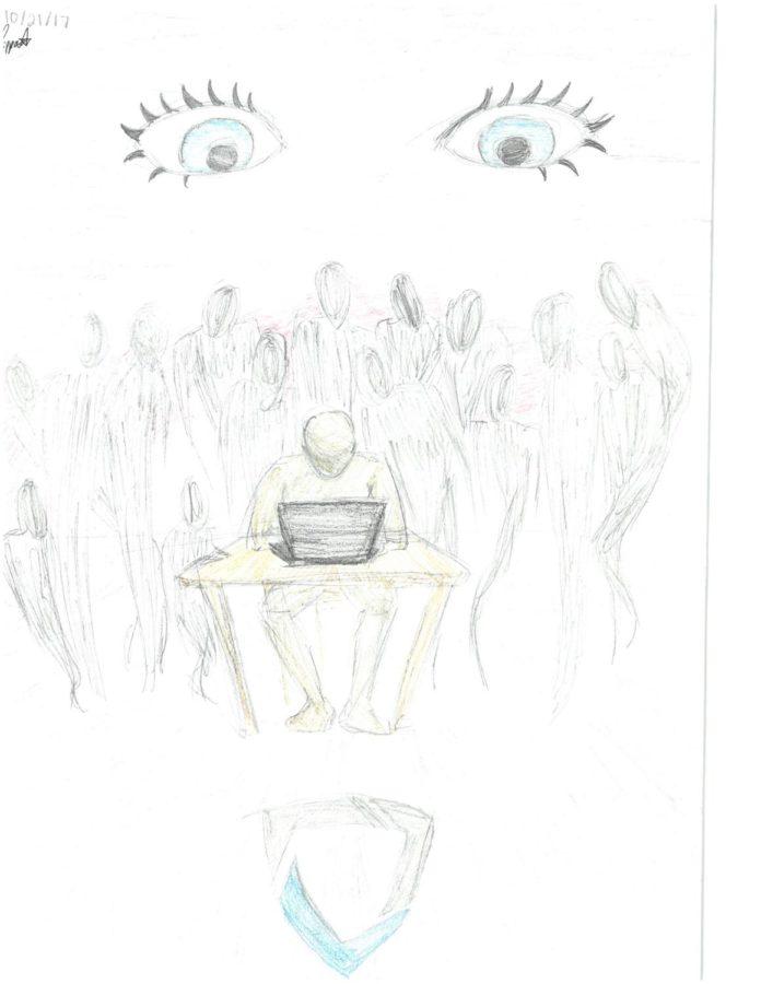 Editorial Cartoon: Eye of GoGuardian Watches