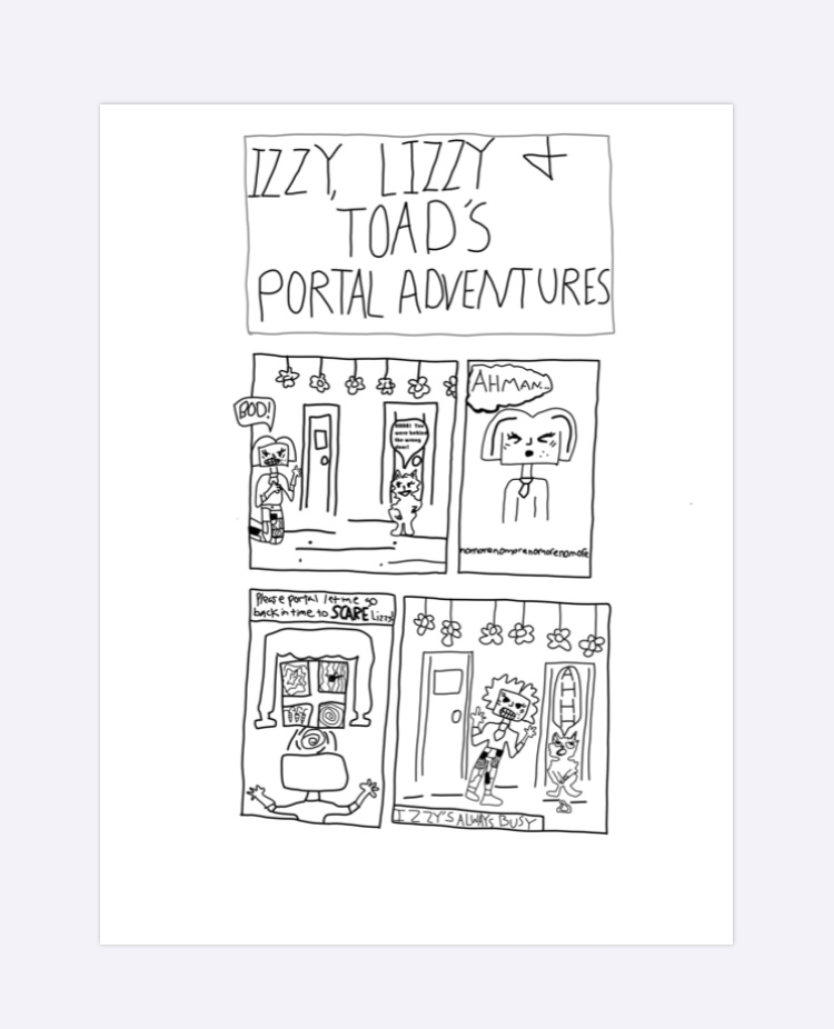 Comic Strip: Izzy, Lizzy and Toad's Portal Adventures