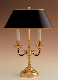 Remington Lamp Table Lamp, Polished brass candelabra
