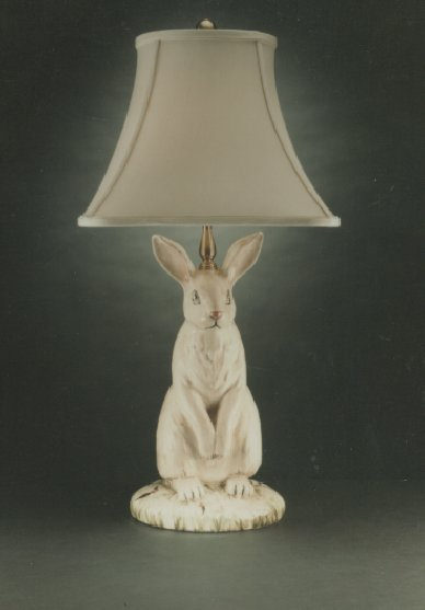 Wildwood Lamps Hand Painted Dignified Rabbit Table Lamp