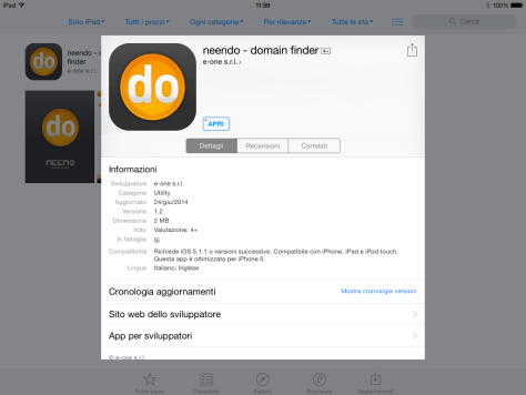 neendo domain finder app store