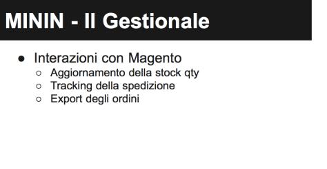 Magento Magazzino