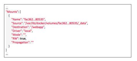 output comando docker inspect