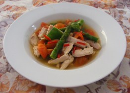 Chicken and veg soup!