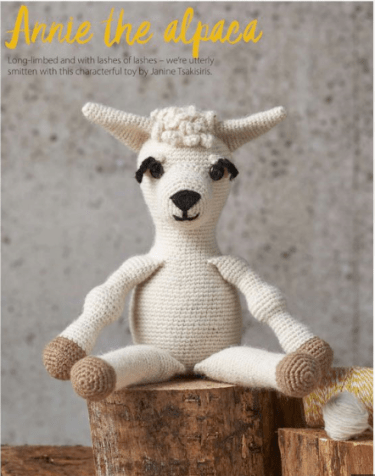 Annie the Alpaca from Issue 52 of Simply Crochet