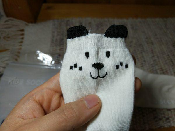 AliExpressで購入したかわいい赤ちゃん用靴下125円が想像以上に可愛かった。