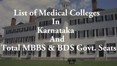 List of Medical Colleges In Karnataka Total MBBS & BDS Govt. Seats