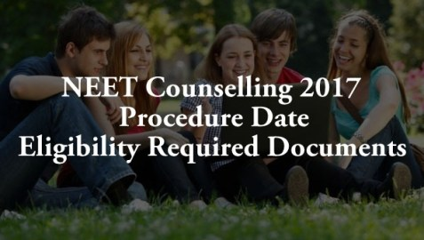 NEET 2017 Counselling Procedure