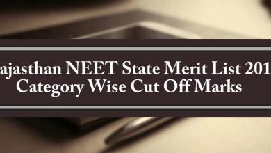 Rajasthan NEET State Quota Merit List