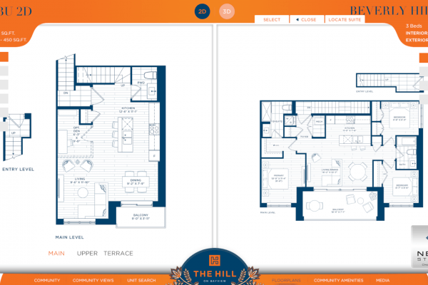 LiveSite 2d floorplan comparison