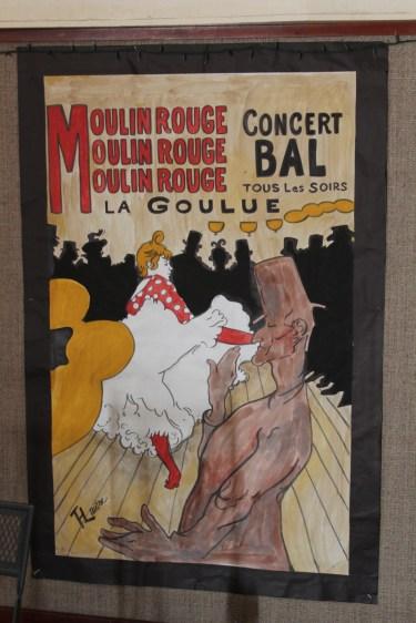 4'x6' Watercolor replica of Toulouse Lautrec art by Julie Nef
