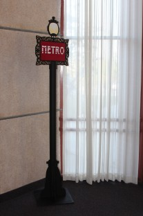 7' wood Metro sign by Julie Nef