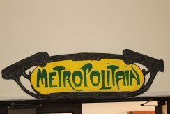 5' Metro sign - marker on colored paper by Julie Nef