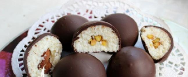 Çikolata -Kaplı- Hindistan- Cevizi- Topları