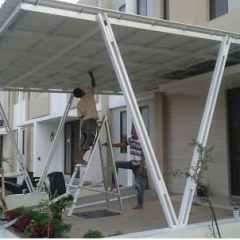 Contoh Kanopi Baja Ringan Atap Spandek Harga Di Bali Buat Canopy Murah