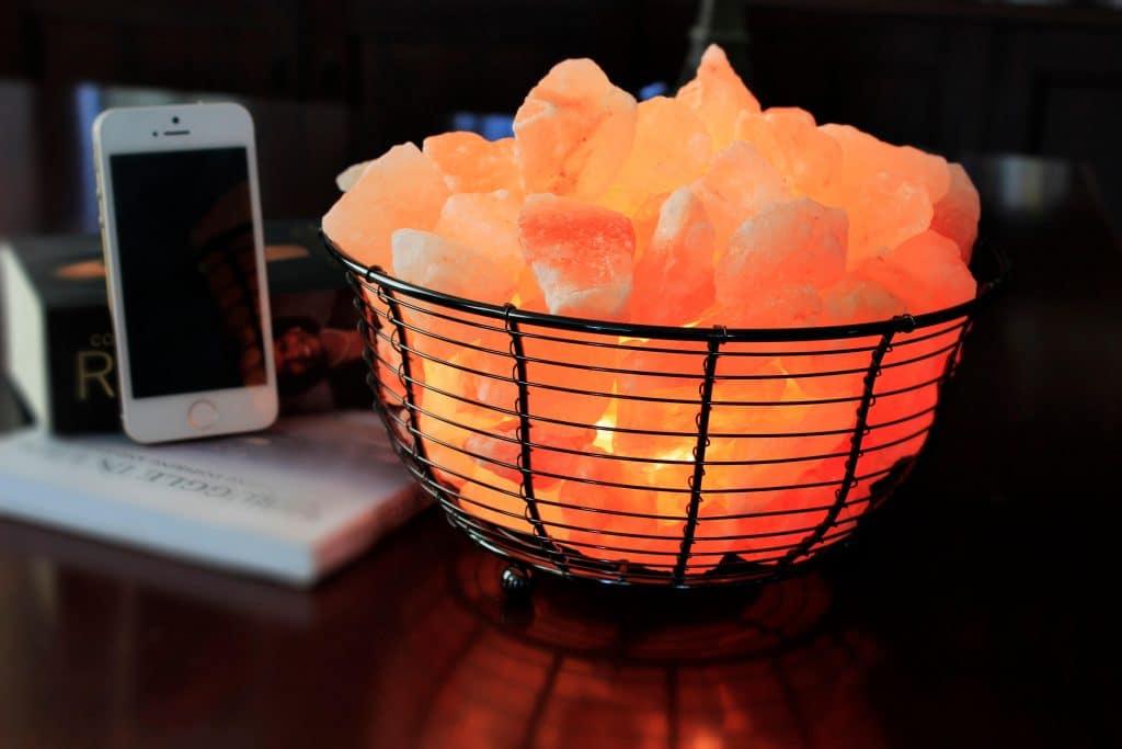 Basket Design Himalayan Salt Lamps  Negative Ionizers