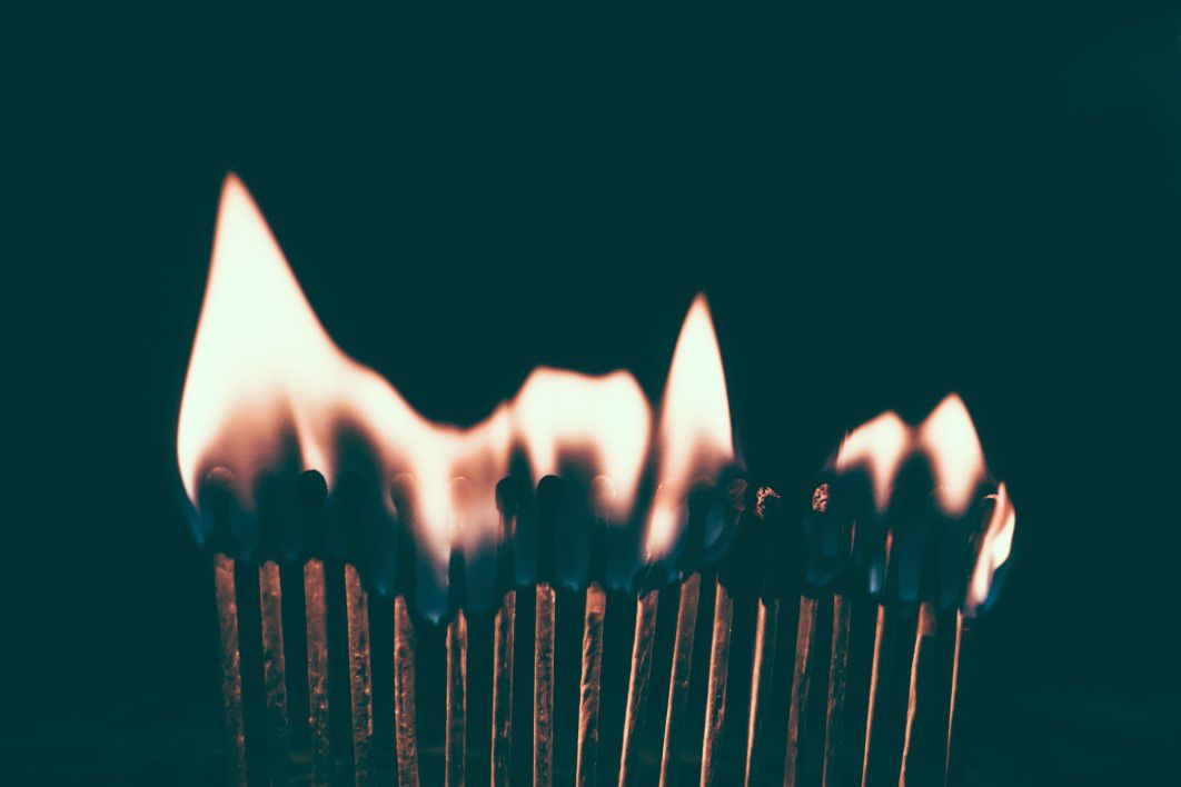 burning matches fire free