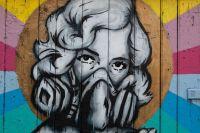 Woman Street Art Graffiti Wall Paint Free Stock Photo ...