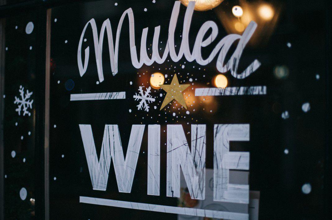 Mulled Wine Window Sign Free Stock Photo  NegativeSpace