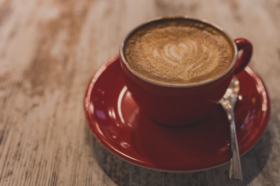 Red Cup Cappuccino Free Stock Photo  NegativeSpace