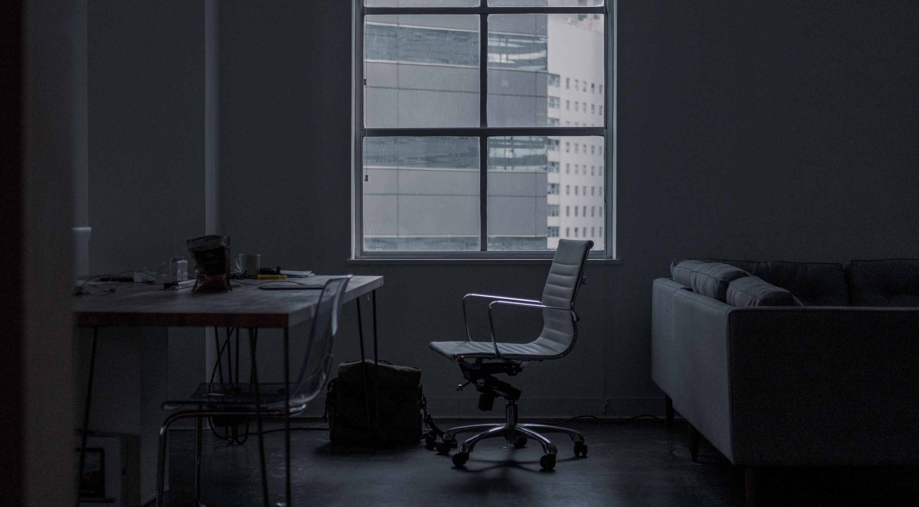 Minimalist Desk Chair Office Minimal Setup Desk Chair Free Stock Photo Negativespace